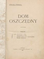 Juliuszowa Albinowska. Dom oszczędny. Lwow, 1907